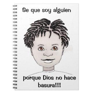 """Cadernos """"Eu sou alguém"""" jornal (os espanhóis do menino)"""