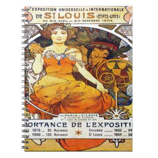 Cadernos Exposição 1903 de Alfons Mucha Universelle