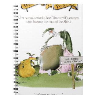 Cadernos fabricante da salsicha de yorkshire do amor