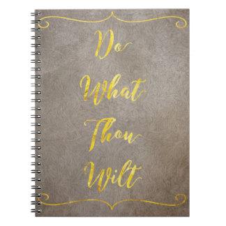 Cadernos Faça que mil Wilt - ouro em Brown