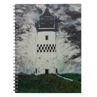Cadernos Farol Checkered na tempestade