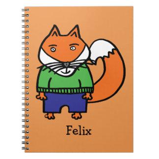 Cadernos Felix personalizado o Fox