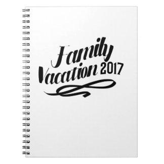 Cadernos Férias em família engraçadas 2017 das férias de