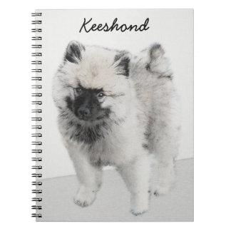 Cadernos Filhote de cachorro do Keeshond (desenho)