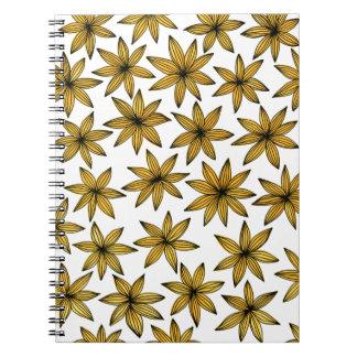 Cadernos Flores amarelas