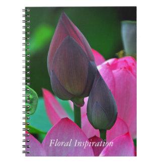 Cadernos Flores cor-de-rosa de Lotus