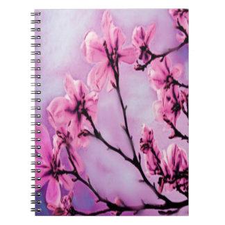 Cadernos Flores de cerejeira cor-de-rosa