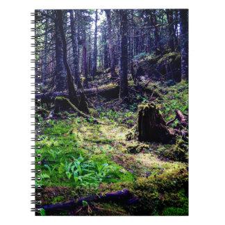 Cadernos Floresta canadense dos animais selvagens