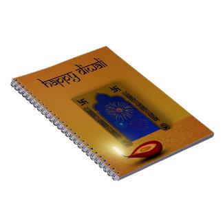 Cadernos Fogos-de-artifício felizes festivos de Diwali -
