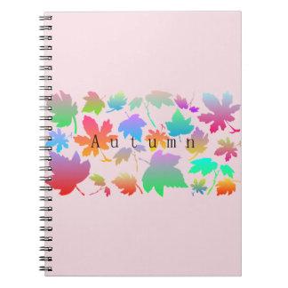 Cadernos Folhas de outono coloridas