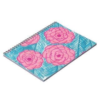 Cadernos Folhas de palmeira e flores tropicais