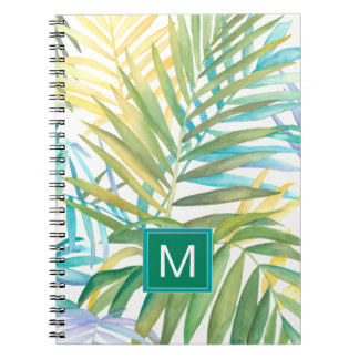 Cadernos Folhas de palmeira tropicais