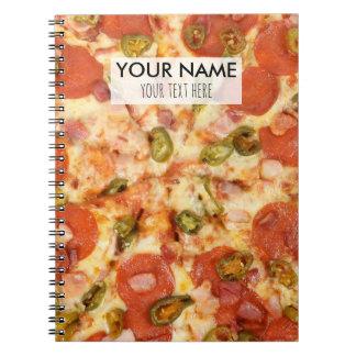 Cadernos foto inteira deliciosa do jalapeno dos pepperoni