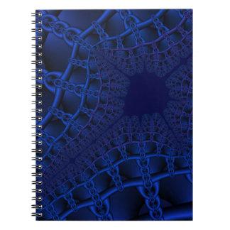 Cadernos Fractal azul elétrico