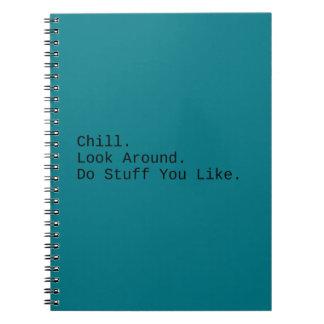 Cadernos Frio. Olhe ao redor
