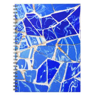 Cadernos Fundo azul abstrato