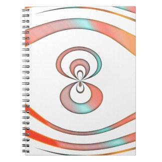 Cadernos fundo da textura e do abstrato