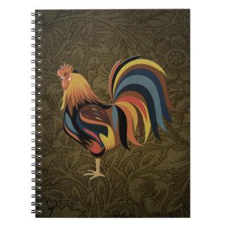 Cadernos Galo grande na arte do rancho de Deco da fazenda