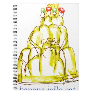 Cadernos gato do jello da banana dos fernandes tony