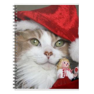 Cadernos Gato do papai noel - gato do Natal - gatinhos