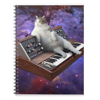 Cadernos gato do teclado - memes do gato - gato louco