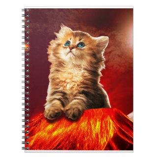 Cadernos gato do vulcão, gato vulcan,