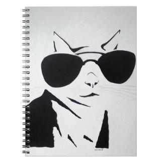 Cadernos Gato legal em preto e branco