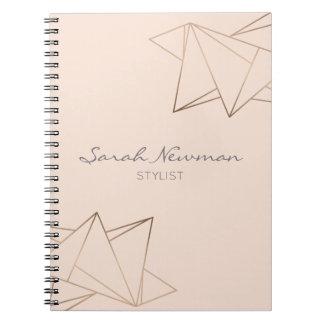 Cadernos Geométrico minimalista moderno elegante do ouro
