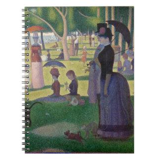 Cadernos GEORGE SEURAT - Um 1884 um domingo à tarde