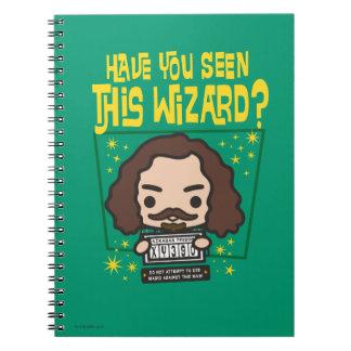 Cadernos Gráfico querido preto do poster de Sirius dos