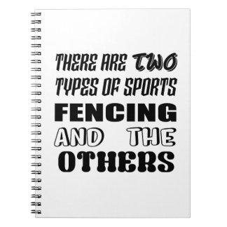 Cadernos Há dois tipos de cerco e de outro dos esportes
