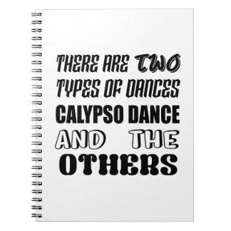 Cadernos Há dois tipos de dança e de ot do calipso da dança