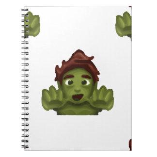 Cadernos homem do zombi do emoji