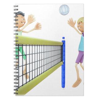 Cadernos Homens dos desenhos animados que jogam o voleibol