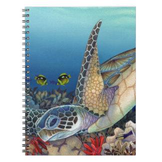 Cadernos Honu (tartaruga de mar verde)