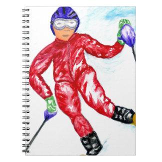 Cadernos Ilustração do esporte do esquiador