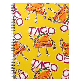 Cadernos ilustração engraçada do estilo dos desenhos