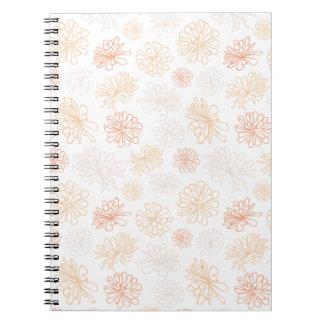 Cadernos Impressão botânico do jardim floral do Succulent