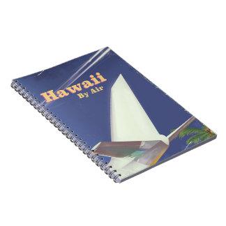 Cadernos Impressão das férias do vintage do vôo de Havaí