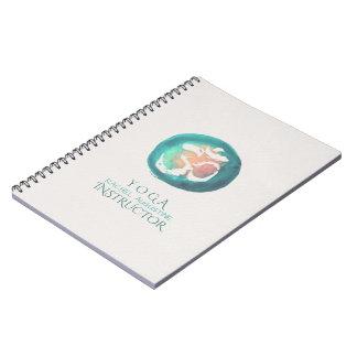 Cadernos Instrutor da meditação da IOGA do símbolo do OM da