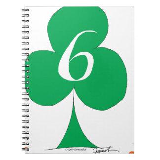 Cadernos Irlandês afortunado 6 dos clubes, fernandes tony