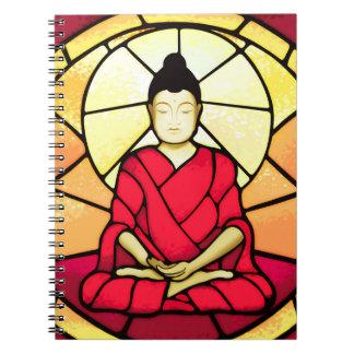 Cadernos Janela de vidro da mancha de Bali buddha