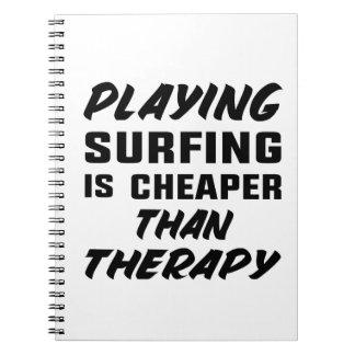 Cadernos Jogar surfar é mais barato do que a terapia