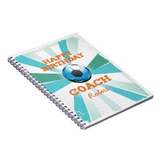 Cadernos Laranja do treinador do futebol de Bday/cerceta
