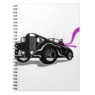 Cadernos Lenço do Roadster do vintage retro