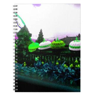 Cadernos Limão do respingo da cor de Bali do guarda-chuva