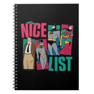 Cadernos Lista agradável do papai noel de Batman | de