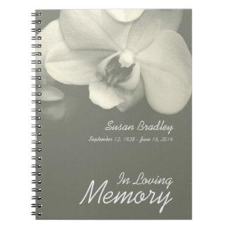 Cadernos Livro de hóspedes floral do funeral da fotografia