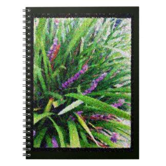 Cadernos Livro de nota de florescência malva abstrato da
