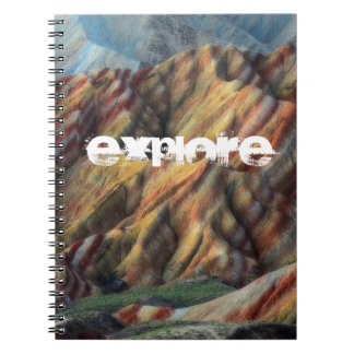 Cadernos livro elegante artístico da montanha da natureza